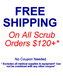 Free shipping on scrub orders
