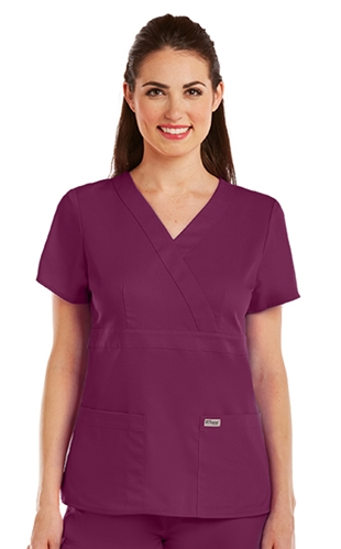 29723c5d2f2 Grey's Anatomy Scrubs- Mock Wrap Top-#4153 XXS-5XL