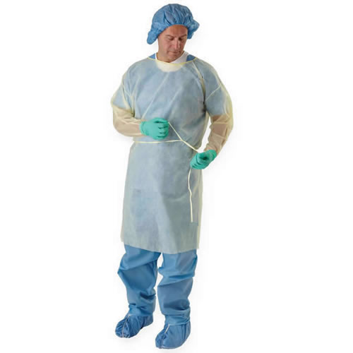 Polypropylene Isolation Gowns 50/Case