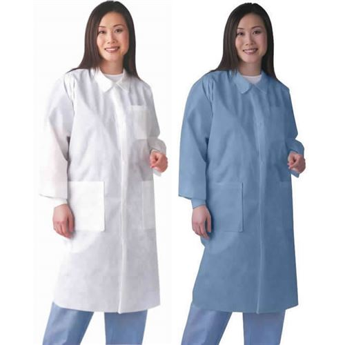 Disposable Lab Coats Fluid Resistant Protective Coat Nonsw400